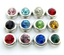12pcs wholesale Birthstone  Floating Charms Fits Living  Lockets FC181