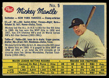 1962 CANADIAN POST CEREAL ~ #5 ~ MICKEY MANTLE ~ (153; 4th time) (PTS)