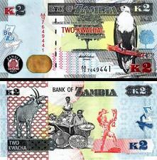 ZAMBIA 2 KWACHA 2012 ( 2013 ) UNC 20 PCS CONSECUTIVE LOT P 49 PREFIX -AA-