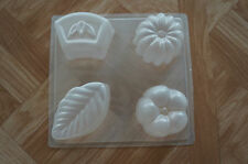 "Flower ""Petit Four"" Chocolate Jello Steam Pudding Plastic Mold"