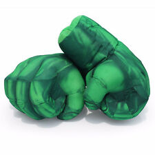 Green12 Inch Incredible Hulk Smash Hands Plush Boxing Gloves Toy Performing Prop