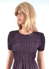 NEW BURBERRY LONDON $415 RUCHED DEWBERRY SHIRT TOP BLOUSE~XS~ITALY