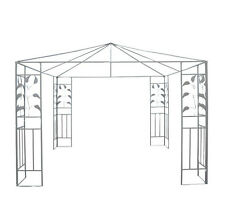 Outsunny 10'x 10' Outdoor Patio Gazebo Stand Steel Frame Canopy Cover
