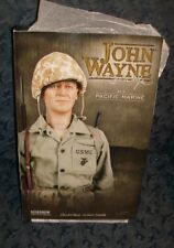 "HARD TO FIND-NIB-12""SIDESHOW JOHN WAYNE ACTION FIGURE-TOUGH WW2 SARGEANT RIKER-"