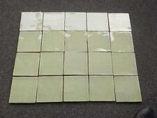 Vintage Retro Hand Made By Winchester  Set Of 20 Green Tiles