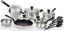 T-fal Excite 14-Piece Cookware Set - Stainless Steel Free Shipping New