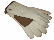 Polo Ralph Lauren Ivory White Cashmere Blend Mens Suede Leather Winter Gloves