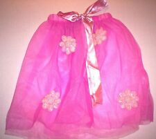 Pink Tutu With Sparkling Sequins & Pearl + Bead Flowers Fits 4-6X, Matching Bag