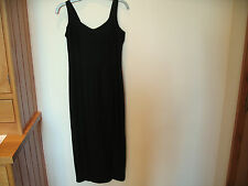 Ladies Long Black Strappy Dress Size 10 Etam