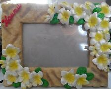 """Picture Frame, Hawaii, Yellow Flowers, 4"""" X 6""""."""