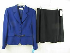 Tahari Classy Ladies Skirt Suit Petite Women Suits Sexy Design Jacket size 14P