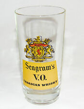 Seagram's V.O. Canadian Whisky Glass / Mid-century era Bar Glass / NY Estate