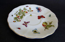 Ardalt Lenwile China Saucer Strawberries/Butterflies/Bugs Japan Colorful