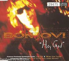 BON JOVI - Hey God (UK No'd Ltd Ed 4 Tk CD Single Pt 1)
