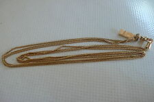 Collier triple rangs en plaqué or 18k poinçonné signé Ted Lapidus paris (TL)