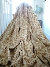 Beautiful CURTAINS tufted CHENILLE shabby CHATEAU chic FRENCH FILIGREE *HUGE*