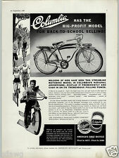 1940 PAPER AD Columbia Bicycle Streamline Motobike Tank Instument Panel