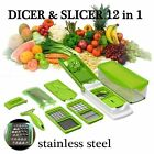 slicer nicer dicer plus vegtable fruit food cutter chopper peeler 12 in 1