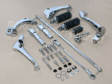 Chrome Forward Controls Kit Pegs Levers Linkage For Harley Sportster XL 883 1200