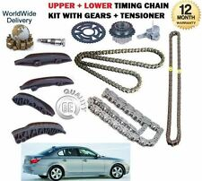 FOR BMW E60 E61 520d 177BHP TOURING 2007--  UPPER + LOWER TIMING CHAIN KIT SET