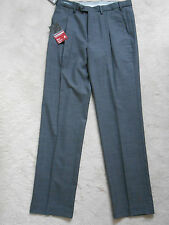 "M&S (New) Grey Wool Blend Supercrease with Single Plea Front Trouser W32""- L33"""