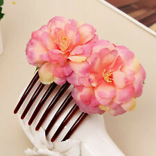 New Double Beautiful Flower Hair Combs Hair Clip Bridal Wedding Party for Women