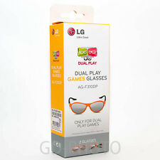 NEW LG Dual Play Games Glasses AG-F310DP 2x in Box for Cinema 3D TV Brille Gafas