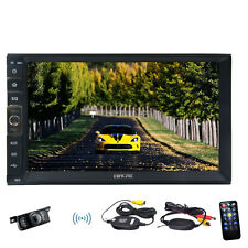 Double 2 Din Car MP5 Stereo Radio Bluetooth Mirror Link for Android Touch+CAMERA