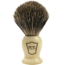 100% Pure Badger Bristle Shaving Brush with Faux Ivory Handle