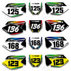 Custom Number Plate Backgrounds Decals For Kawasaki KX450F KXF450 2006 2007 08