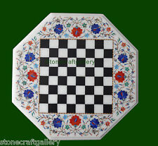 """1.5"""" Coffee Table Top Marble Pietra dura Arts Handmade Home Decor and Gift"""