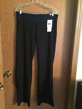 4790)  NWT ADIDAS sz L Long Ultimate Slim Pant black sport poly pants flare $60