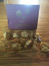 THE DANBURY MINT GOLD CHRISTMAS ORNAMENT COLLECTION - never used!!