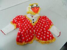 Vestito Costume Carnevale PAPERO PAPERA bambini neonati 9 12 mesi C42