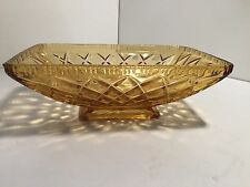 vintage amber rectangle glass bowl