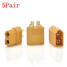 5 Pairs XT60 Male Female Bullet Connectors Plugs for RC Lipo Battery Simple FT