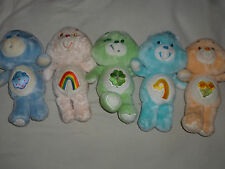VINTAGE CARE BEAR PLUSH LOT OF 5 GRUMPY CHEER  FRIEND WISH GOOD LUCK KENNER 1983