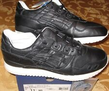 Men 11 ASICS GEL LYTE III Fieg Grand Opening BLACK LEATHER Kith Shoe NEW Light 3