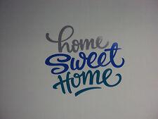 ADESIVO DECORAZIONE PARETE CASA - HOME SWEET HOME - WALL STICKER