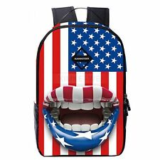 Fashion USA American Flag Travel Satchel Backpack Shoulder Student School Bag
