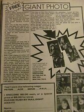 Kiss, Magazines, Full Page Vintage Promotional Ad