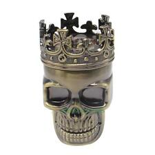 Plastic Shell Metal Sawtooth King Skull Herb Mill Crusher Tobacco Smoke Grinder