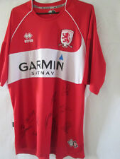 Middlesbrough Squad Signed 2008-2009 Home Football Shirt with COA /13780