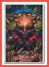 "DC COMICS SUPERMAN VS MARVEL COMICS THE HULK 11"" X 17"" DIGITAL ART PRINT"