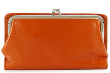 NWT New HOBO INTERNATIONAL Diane Kisslock Clutch Wallet Vintage Cognac Brown