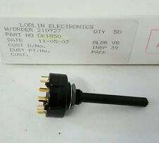NEW LORLIN CK1850 ROTARY SWITCH 2 POLE 6 POSITION 150ma 250v Selector Switch