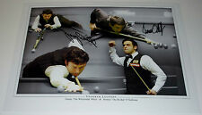 RONNIE O'SULLIVAN & JIMMY WHITE SNOOKER PERSONALLY SIGNED AUTOGRAPH 16X12 PHOTO