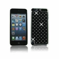 For Apple iPod Touch 5 6 Black Spot Diamond Rhinestone Crystal Bling Case Cover
