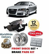 FOR AUDI A5 2.0 COUPE SPORTBACK 2008-  FRONT BRAKE DISCS SET AND DISC PADS KIT