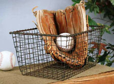 Country/Primitive/Farmhouse/Cottage Industrial Wire Storage Basket